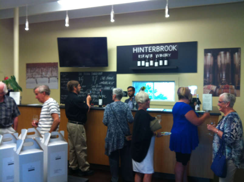 Members at Hinterbrook Winery event