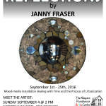 Reflections, mixed-media installation by Janny Fraser