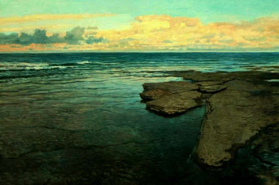 Chris Morton, Low Water - Georgian Bay, Oil on canvas
