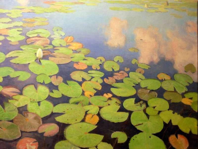 Chris Morton, Lily Pads!, Oil on canvas