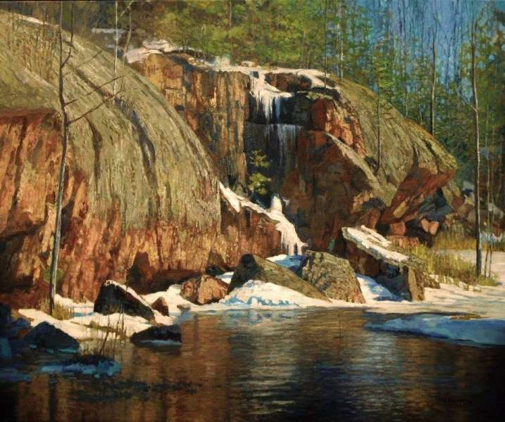 Chris Morton, The Rock Gorge, Oil on canvas