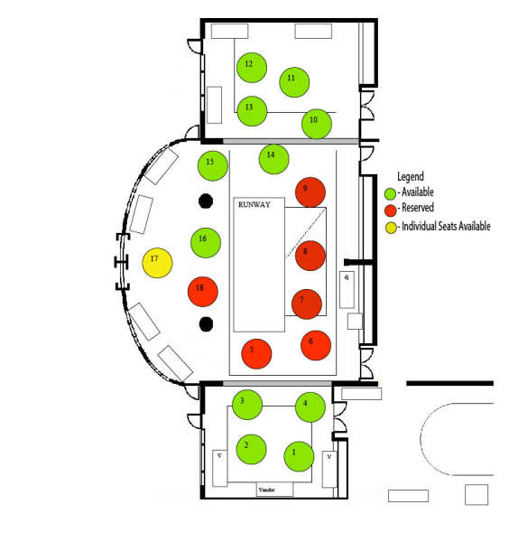 Fashion Show Floor Plan