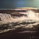 Myrtle Burton, May 1972 (Niagara Ice Jam), Oil on canvas