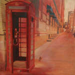 Giancarlo Piccin, Phone Booth Near King, oil on canvas