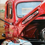 Rob Crosby, Red Truck, Acrylic