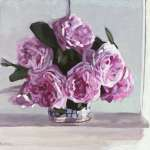 Peonies on the Mantel