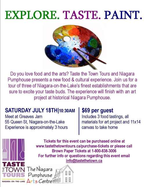 Taste the Town Tour & Art Project @ Pumphouse