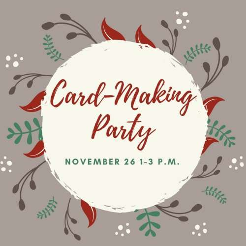 Card Making Party at the Pumphouse