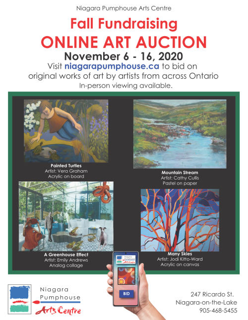 Niagara Pumphouse Fall Fundraising Online Art Auction